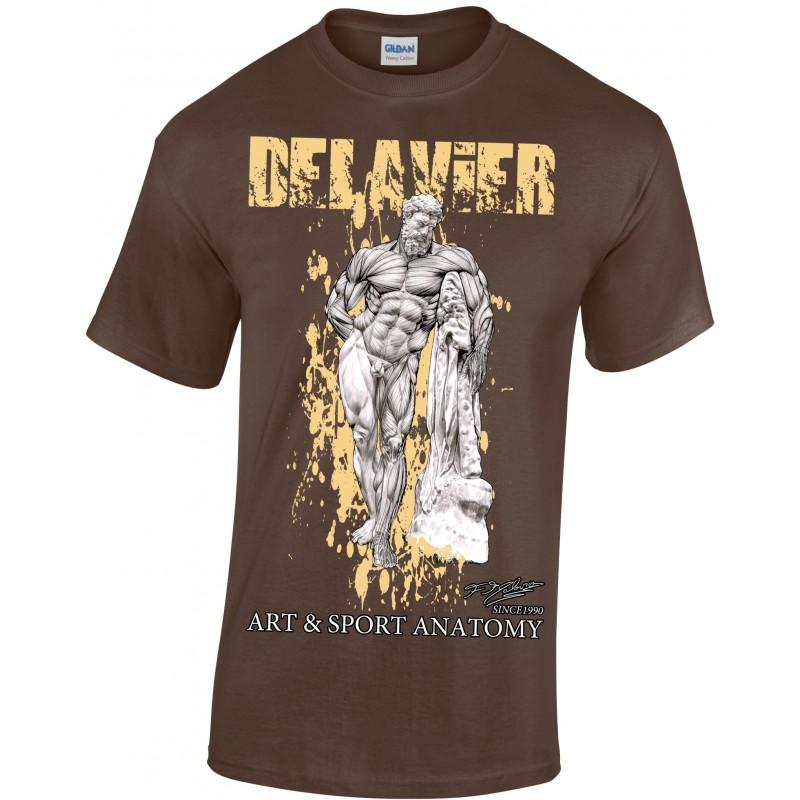 Delavier - Teeshirt homme - Hercule Farnèse - Chocolat