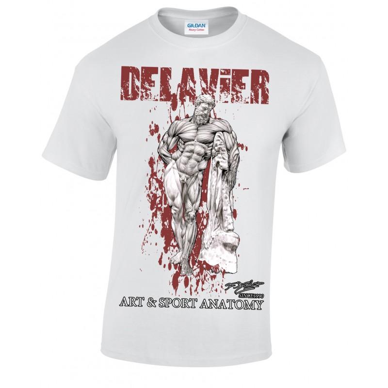Delavier - Teeshirt homme - Hercule Farnèse - Blanc