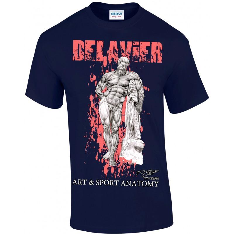 Delavier - Teeshirt homme - Hercule Farnèse - Navy