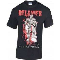 Delavier - Teeshirt homme - Hercule Farnèse - Noir