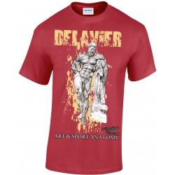 Delavier - Teeshirt homme - Hercule Farnèse - Cardinal red
