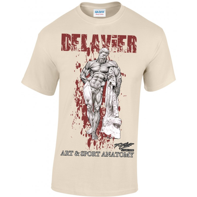 Delavier - Teeshirt homme - Hercule Farnèse - sand