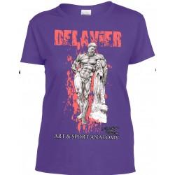 Delavier - Teeshirt femme - Hercule Farnèse - Purple