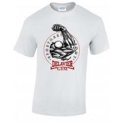 Delavier - Teeshirt homme - Bras - Blanc