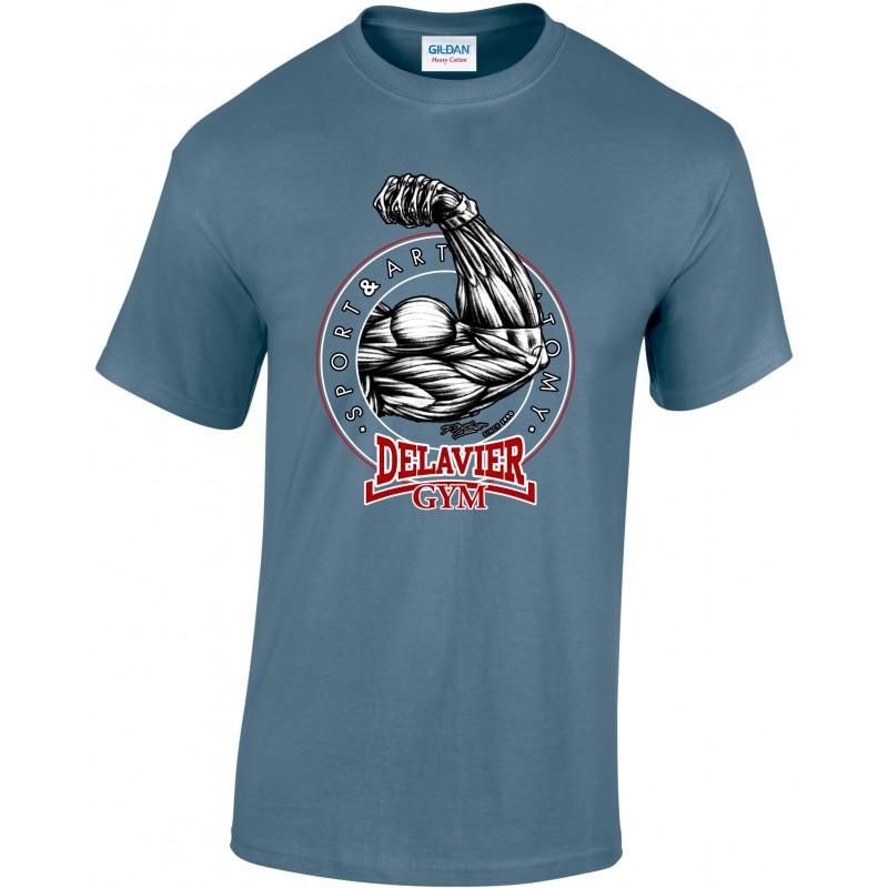 Delavier - Teeshirt homme - Bras - Indigo