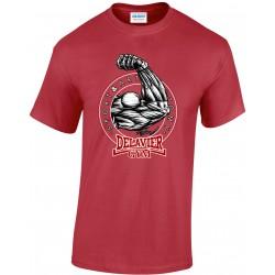 Delavier - Teeshirt homme - Bras - Rouge cardinale