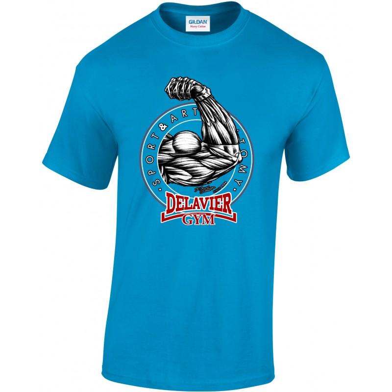 Delavier - Teeshirt homme - Bras - Sapphyre
