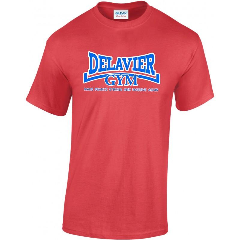 Delavier - Teeshirt homme - Make France - Rouge