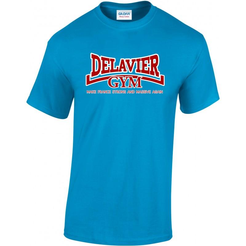 Delavier - Teeshirt homme - Make France - Sapphire
